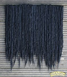 Absolute Midnight Crochet Synthetic Dreads x40 by blacksunshineiow