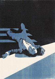Plain Murder - linocut illustration by Nick Morley Illustrations, Graphic Illustration, Graphic Art, Posca Art, The Villain, Linocut Prints, Printmaking, Drawings, Artwork