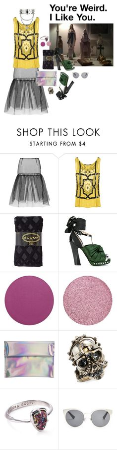 """."" by applecocaine ❤ liked on Polyvore featuring Simone Rocha, One Vintage, Scoop, Frankie Morello, N°21, Hello Parry, Alexander McQueen, Kendra Scott and Christian Dior"