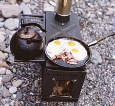 A cool looking portable camping stove.