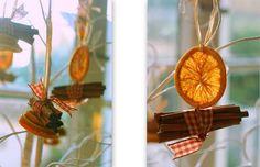 Orange and cinnamon decorations