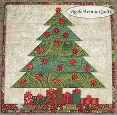 Apple Avenue Quilts: Free 2012 Blocks of each Month --- so many great free quilt blocks here, all holidays covered as well. Christmas Tree Quilt, Christmas Patchwork, Christmas Blocks, Christmas Quilt Patterns, Christmas Sewing, Christmas Quilting, Small Quilts, Mini Quilts, Winter Quilts