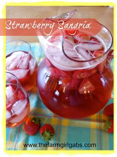 This sangria is a break from the traditional. It is made with fresh strawberries and Moscato wine. It's light, it's refreshing and it's great for a crowd.