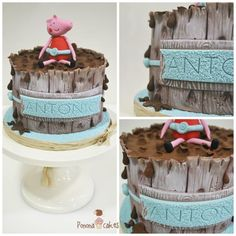 Peppa Pig in a muddy swimming pool - Cake by Ponona Cakes - Elena Ballesteros