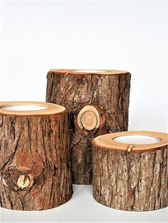 Welcome to MeadHill Rustic! Got Cedar?  If you are looking for that rustic décor for your wedding or event then these wooden tea light candle holders are perfect. I have the ability to make them from Cedar (With or Without Bark). All are Cut, sanded and drilled to 1-5/8 diameter and Approx. 5/8 deep. If you need tea lights included please let me know.  The Listing is priced as a set of 3 Assorted Size for 18.95.  I will custom cut from 2 - 6 heights. You may also request diameter sizes from…
