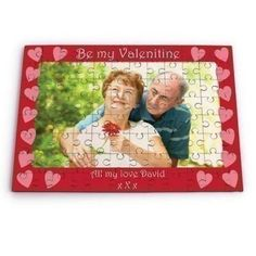 Be My Valentine Personalised Photo Jigsaw - The Personalised Gift Shop #Valentines £13.99