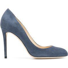 Jimmy Choo Bridget 100 pumps (€430) ❤ liked on Polyvore featuring shoes, pumps, blue, stiletto pumps, stiletto heel pumps, heels stilettos, jimmy choo stilettos and leather shoes