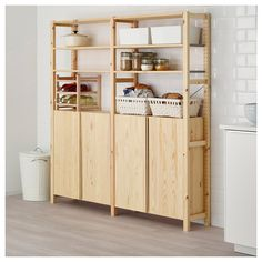 IKEA IVAR 2 section shelving unit w/cabinet...temporarily until we can actually replace cabinets?