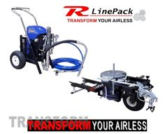 Airless Hydraulic Sprayer - Texture - Paint - Line Striping with one machine…