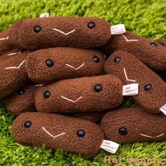 Guinea Pig poo plush - Piggy poop plushie - Plush Stuffed Animal Poop - Flat Bonnie - 2