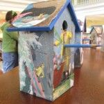 Birdhouse made by a 6th grader at Tenacre Country Day School in Wellesley, MA using Burt Dow, Deep-Water Man by Robert McCloskey