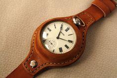 Leather Wristband for Molnija pocket watch