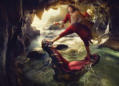Russell Brand as Captain Hook. Disney Dream Portrait Series by Annie Liebovitz