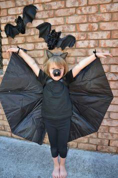 Bat costume with umbrella wings. Diy instructions.