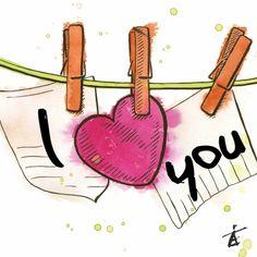 ♥Kaartje2go - Valentijnskaarten - I love You