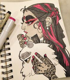 inktober make up 30 #inktober #inkedup #inkgirls #tattoo #copic #micron #henna #hennatattoo http://ift.tt/2giS9NS