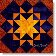 Blazing Star quilt block image © Wendy Russell