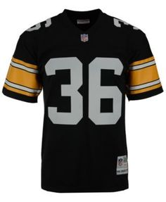 fa9074ef7 Mitchell   Ness Men s Jerome Bettis Pittsburgh Steelers Replica Throwback  Jersey - Black S