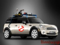 Mini Cooper Clubman S made to look like the Ghostbusters' car. <3