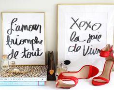 French phrases - french Prints via MADEBYGIRL.com $20 each 11x14