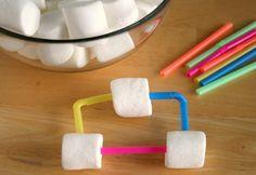 Marshmallow tinker toys...