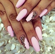 Cotton candy pink nails