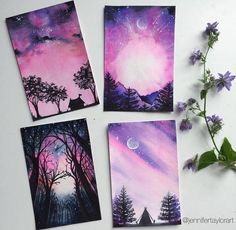 grafika art, drawing, and purple