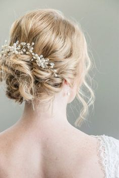 pearl and bling bridal hairpiece
