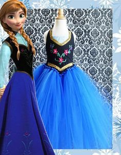 Anna Inspired Tutu Dress Costume by 4EverTuTu on Etsy, $49.99 What if we did a two peice with a black tank for the top and then a skirt instead of a dress
