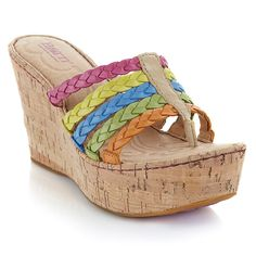 "Born ""Palmdale"" Leather Thong Platform Wedge Sandal"