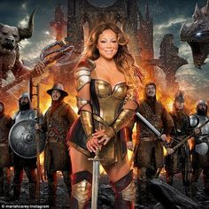 Mobile game: Mariah Carey shared an Instagram photo of herself on Thursday in revealing warrior gear