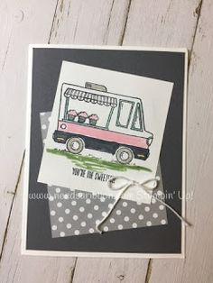Tasty Trucks food truck stamp set from Stampin' Up! FREE during Sale-A-Bration. Learn more how you can get your FREE stamp set here!