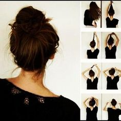 Twisted messy bun. Always up for messy buns!