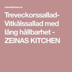 Treveckorssallad- Vitkålssallad med lång hållbarhet - ZEINAS KITCHEN