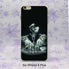 popeye poker Pattern hard White Skin Case Cover for iPhone 4 4s 4g 5 5s 5c 6 6s 6 Plus
