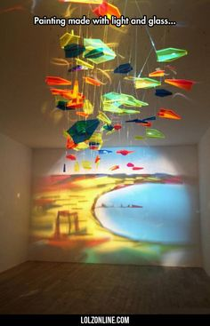 Painting Made From Light And Glass#funny #lol #lolzonline
