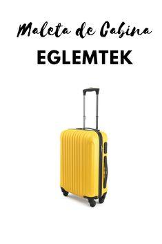 12c986cf7a Eglemtek ABS Maleta Equipaje de mano cabina rígida ligera con 4 ruedas