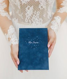 Blue suede book for