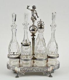 Gorham: Figural Victorian Cruet Set.