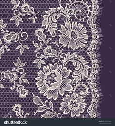 Find Seamless Lace Floral Background Vintage Lace stock images in HD and millions of other royalty-free stock photos, illustrations and vectors in the Shutterstock collection. Border Embroidery Designs, Gold Embroidery, Embroidery Patterns, Violet Background, Background Vintage, Lace Border, Floral Border, Texture Illustration, Snowflake Quilt