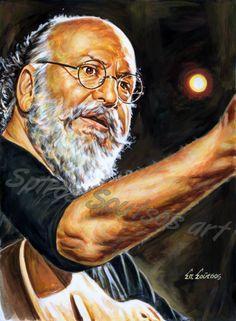 Διονύσης Σαββόπουλος πορτραίτο αφίσα, αυθεντικός πίνακας ζωγραφικής