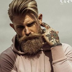 View the best mens hairstyles from Charlemagne Premium male grooming and beard styling. We love the sexy looks using pomades, clay, matte paste and the coolest messy looks. Josh Mario John, Mens Hairstyles With Beard, Haircuts For Men, Beard Styles For Men, Hair And Beard Styles, Tapered Beard, Beard Haircut, Beard Look, Man Beard