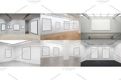 6 Photorealistic Art Gallery MockUp by eduardo.justino on @creativemarket