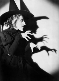 Margaret Hamilton as The Wicked Witch in The Wizard of Oz.