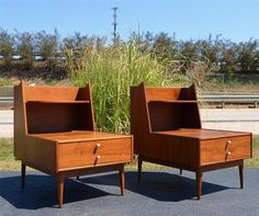 Danish Mid Century Modern Drexel Declaration Kipp Stewart End Tables
