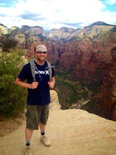Top of Angel's Landing, #ZionNationalPark Utah.