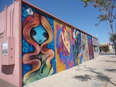These murals are on the building at 3550 30th Street in San Diego's North Park neighborhood.