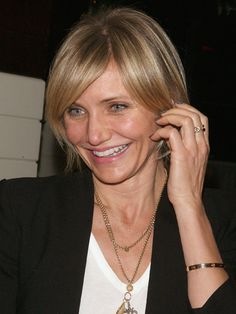 How not to fight your bangs with shorter hair,  Cameron Diaz