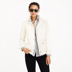 """The perfect """"it's chilly but not quite freezing yet"""" layer. Inspired by the silhouette of our waxed cotton downtown field jacket, this quilted version is super-classic, filled with down and just as versatile as the original."""