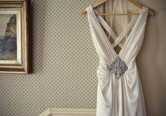 Jenny Packham embellished satin wedding dress | Photo by Marianne Taylor